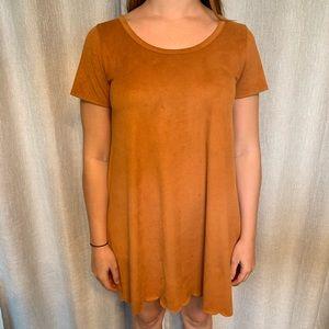 Brown Microsuede Dress
